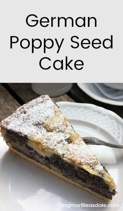poppy seed cake German Mohnkuchen, DagmarBleasdale.com