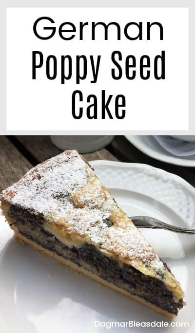 poppy seed cake German recipe, DagmarBleasdale.com
