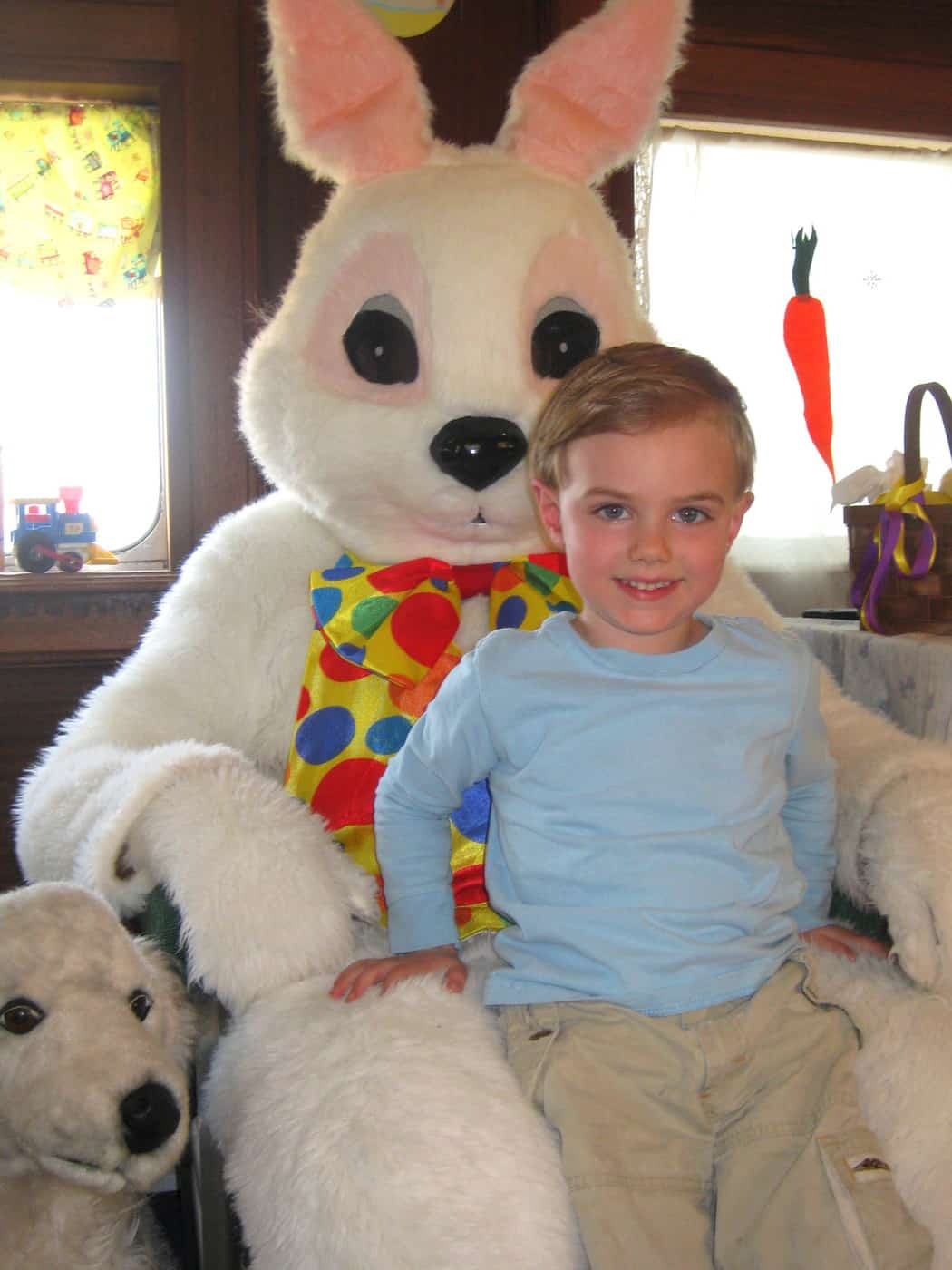 First Picture With the Easter Bunny