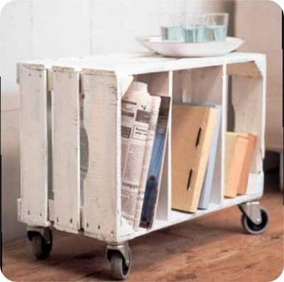 Frugal Storage Ideas, crate sidetable