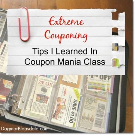 extreme couponing, coupon mania class