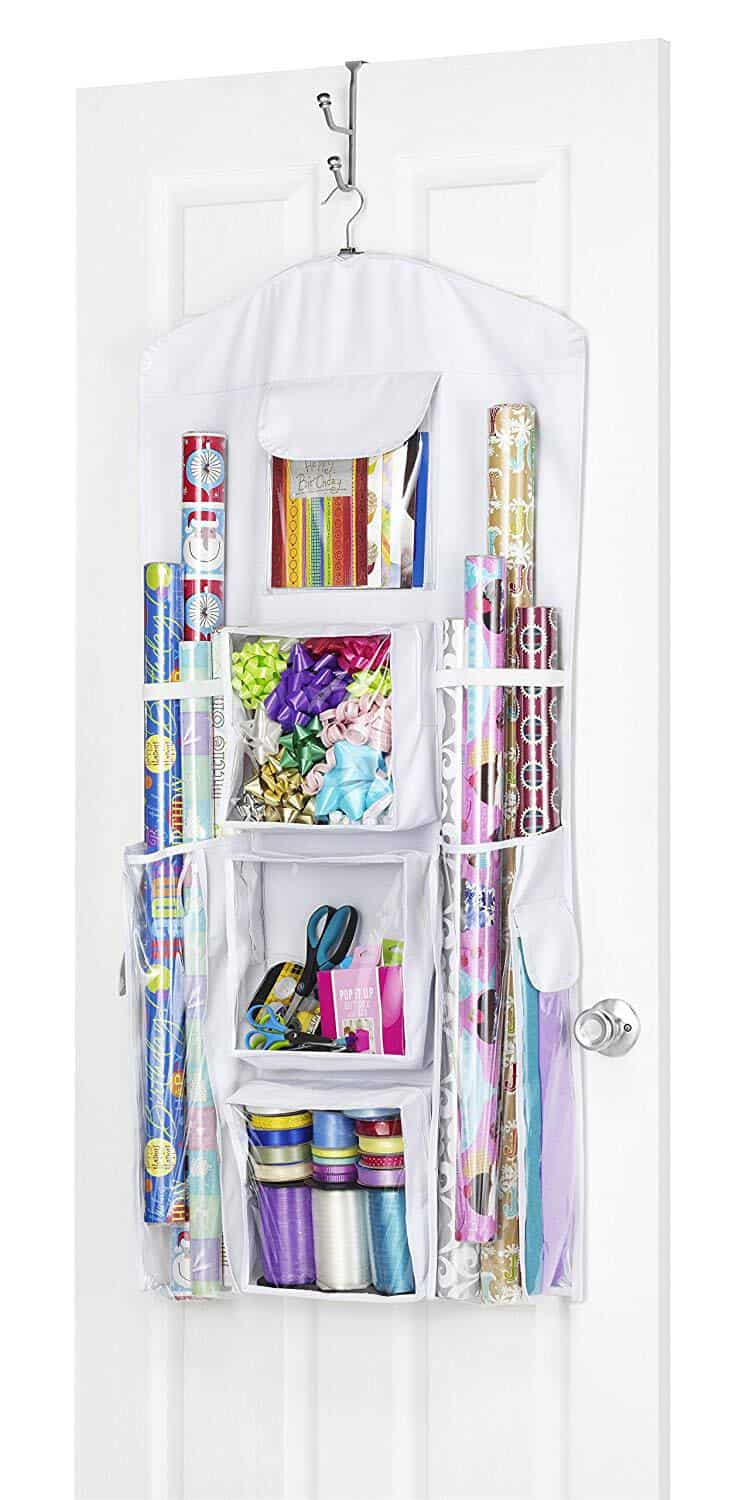 creative storage ideas, gift wrapping storage