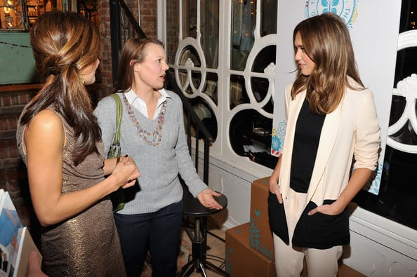 Jessica Alba, Dagmar Bleasdale and Nicole Feliciano at The Honest Company launch