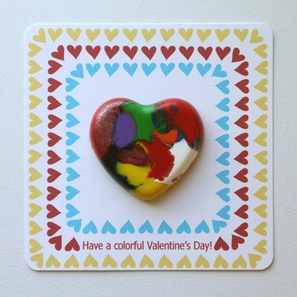 Valentine's Day Crafts For Kids, crayon heart