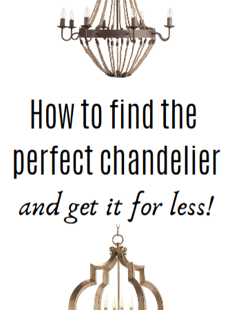 How to Find The Perfect Chandelier For Less