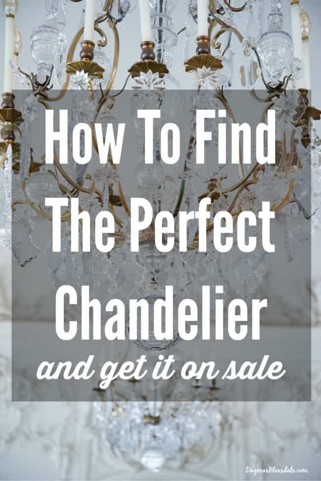 Perfect chandelier: how to find it and get it for less!