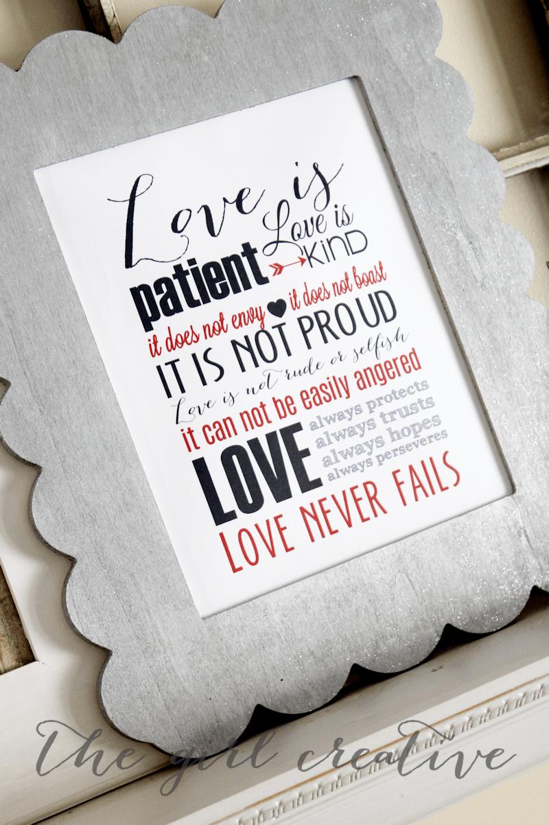 Valentine's Day DIY printable Love Subway Art