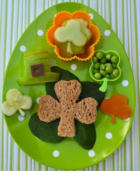 Last-minute St. Patrick's Day bento box idea