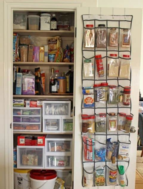 organizing ideas, vintage crates on wall for storage