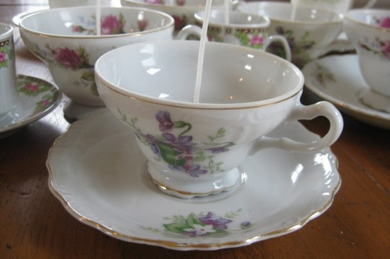 how to make a candle in a teacup