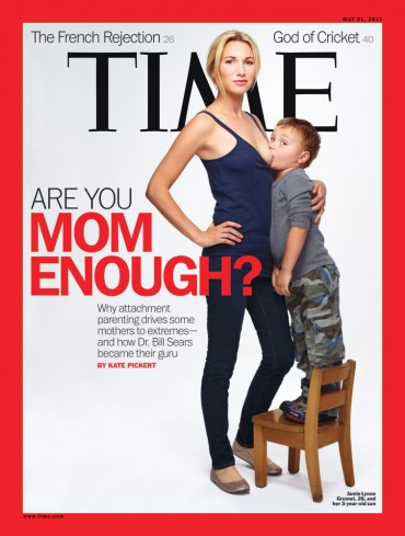 Controversial Time Magazine Cover of Breastfeeding Mom