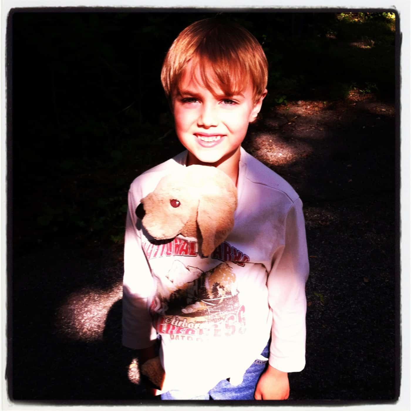 Wordless Wednesday — Babywearing a Dog