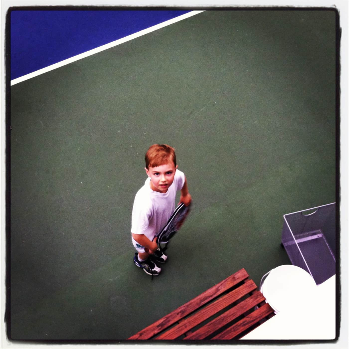 Wordless Wednesday — Tennis Tryout