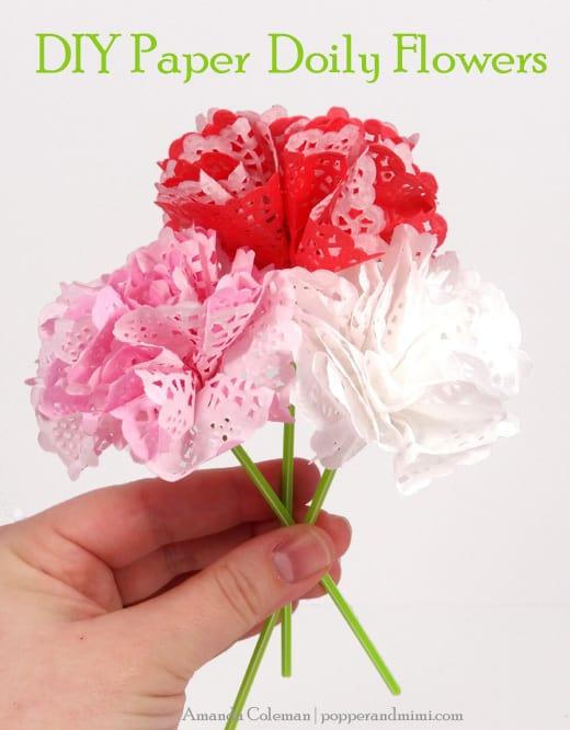 DIY doily flowers