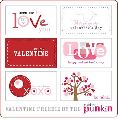 Free Valentine's Day Cards and Tags Printables