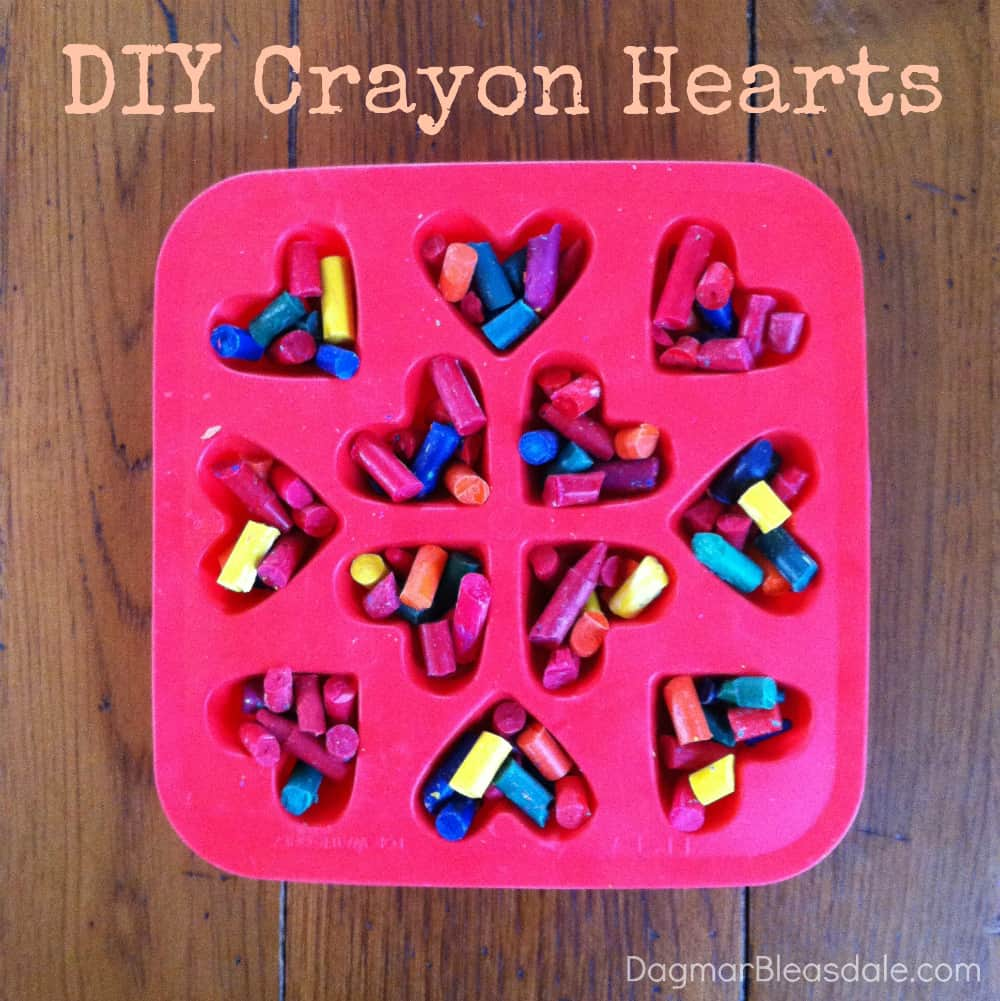 DIY Crayon Hearts for Valentine's Day