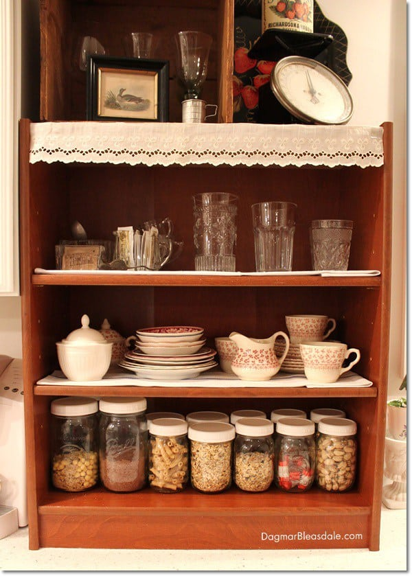 mason jar storage in the kitchen
