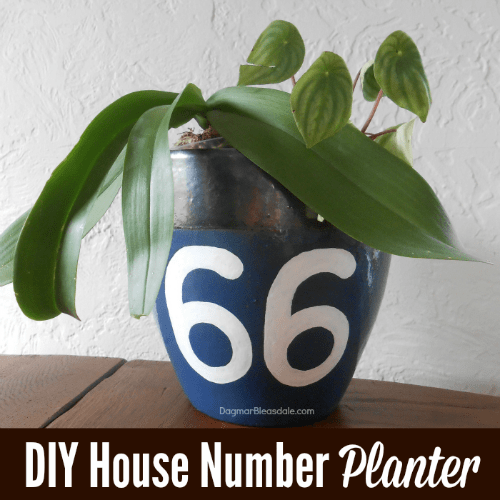DIY Planter With House Number