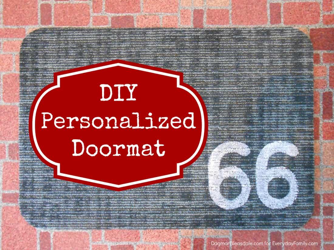 DIY personalized doormat