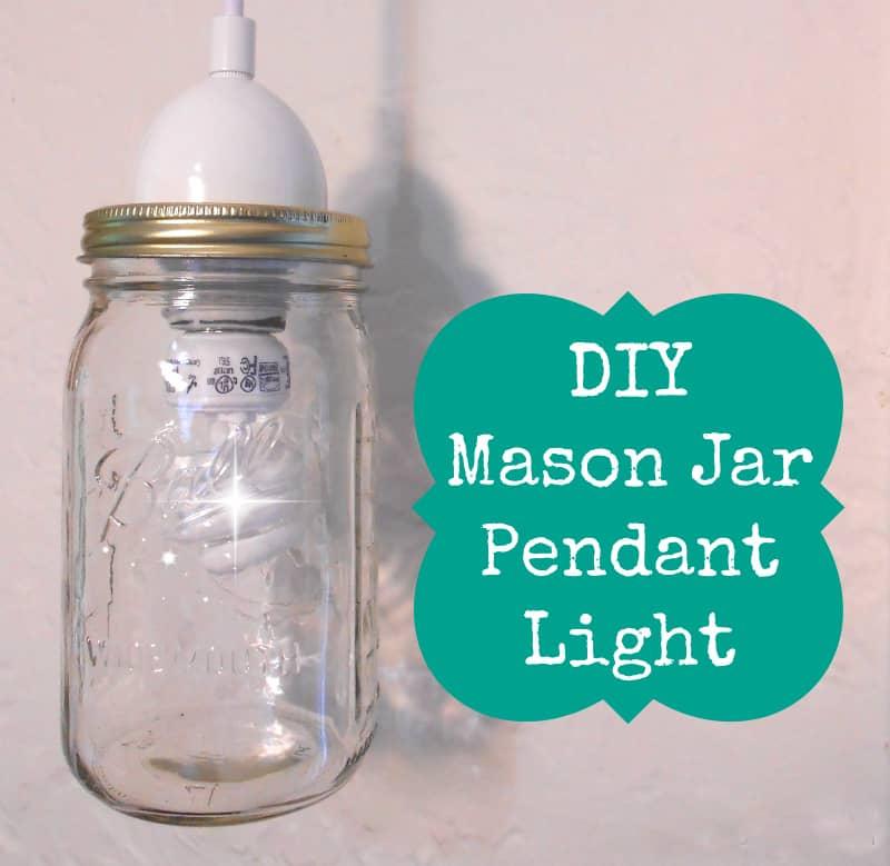 DIY mason jar pendant light