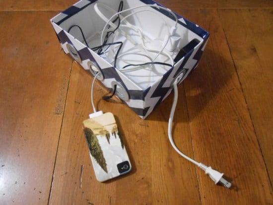 DIY shoebox charging station, DagmarBleasdale.com