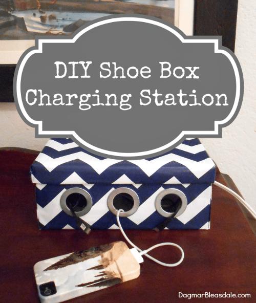 DIY shoe box charging station