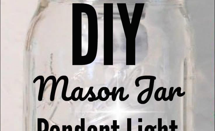 Make a DIY Mason Jar Pendant Light in Minutes