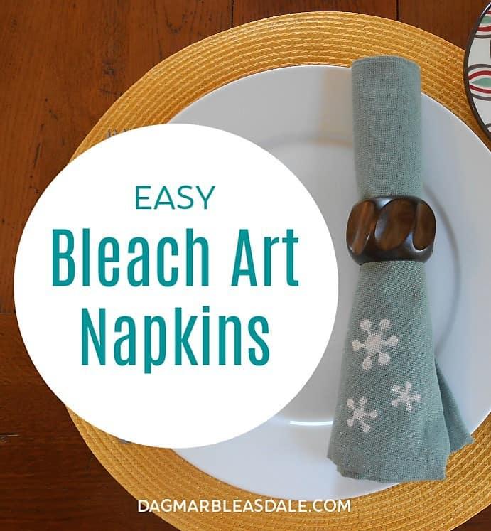 bleach art napkins easy DIY