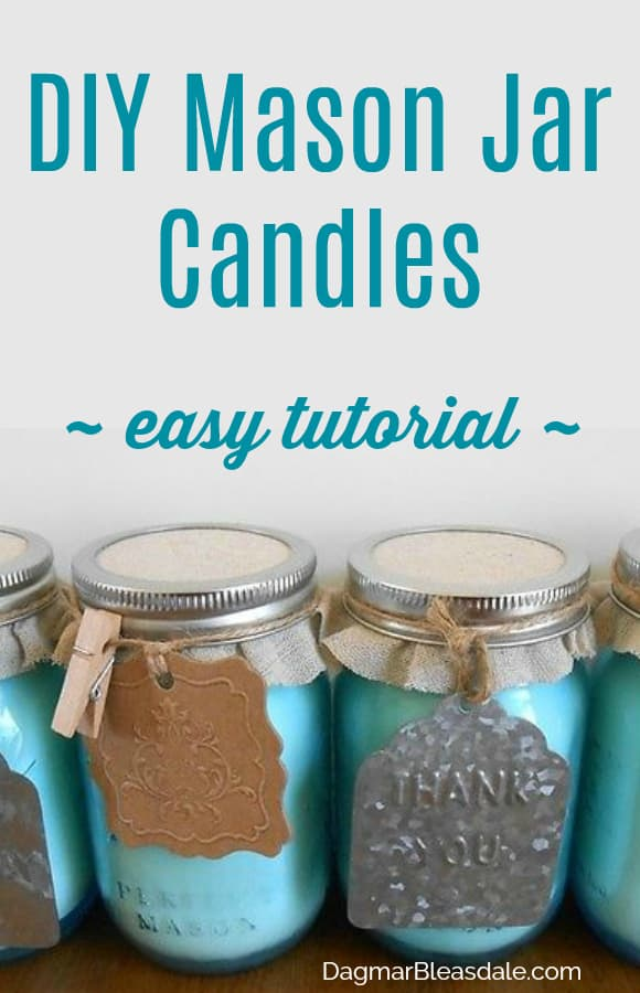 mason jar candles DIY tutorial, DagmarBleasdale.com