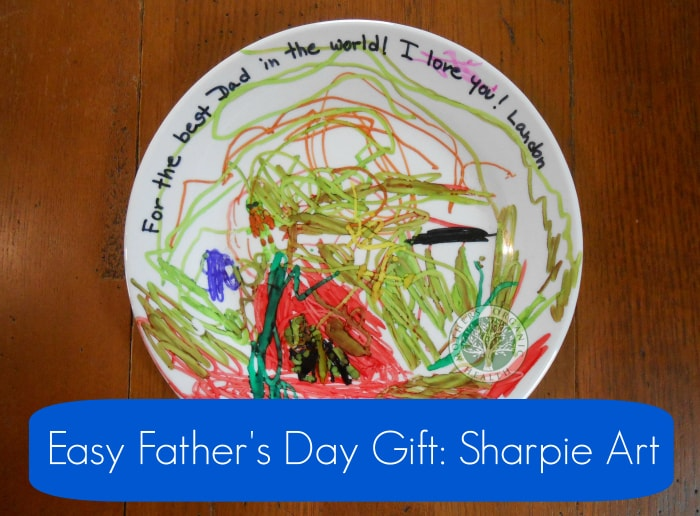 Last-Minute Father's Day Gift, DIY Sharpie art