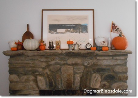 Dagmar's Home: fall mantel decor