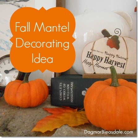 Fall Mantel Decor at the Blue Cottage