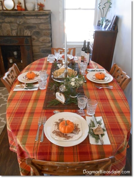 Vintage Thanksgiving table setting, DagmarBleasdale.com