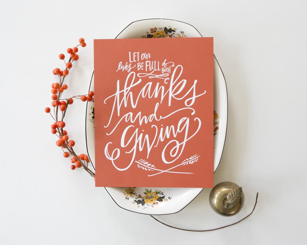 Thanksgiving Thanks & Giving print