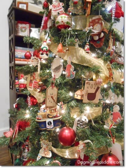 Christmas tree with many ornaments