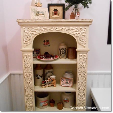 Christmas decor with vintage items and papergoods