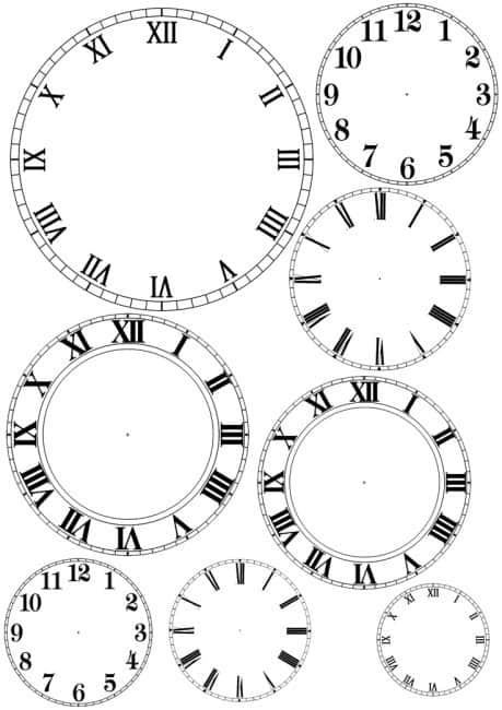 New Year's Eve clock printable