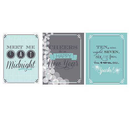 3 retro New Year's Eve Printables