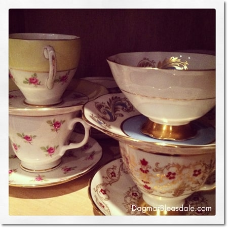 vintage teacups from England