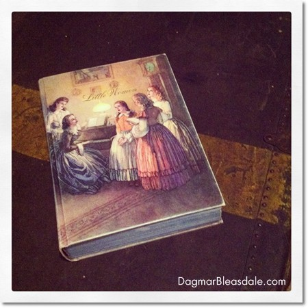"vintage, illustrated edition of ""Little Women"""