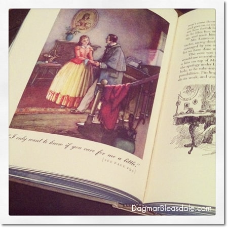 "vintage, illustrated ""Little Women"" book"