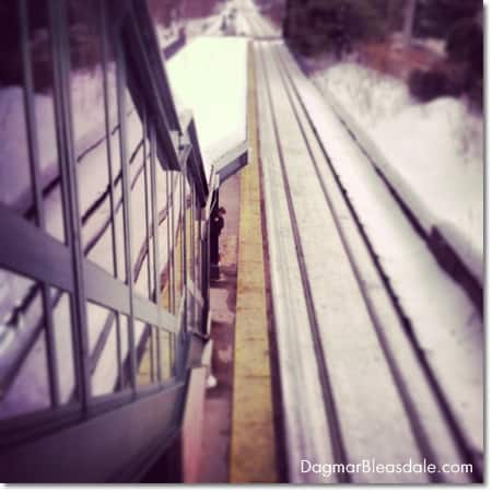Wordless Wednesday photo: little boy at train station
