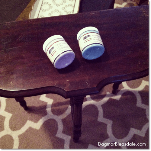 painting little table with American Paint Company chalkpaint