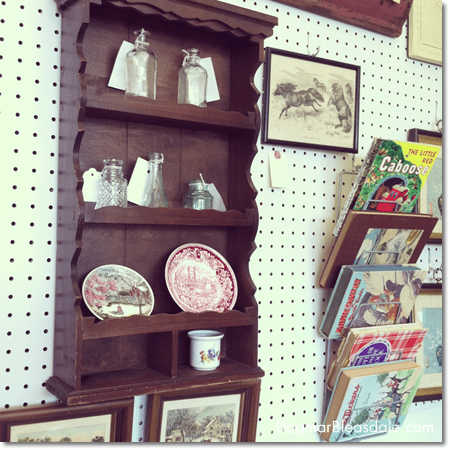 vintage shelf in Newburgh Vintage Emporium, NY