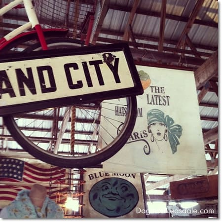 vintage sign at Country Living Fair 2014