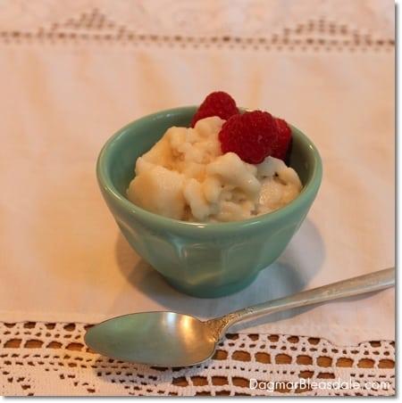 5-Minute Ice Cream With Almond Milk