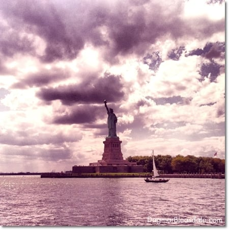 Statue of Liberty on Ellis Island, New York