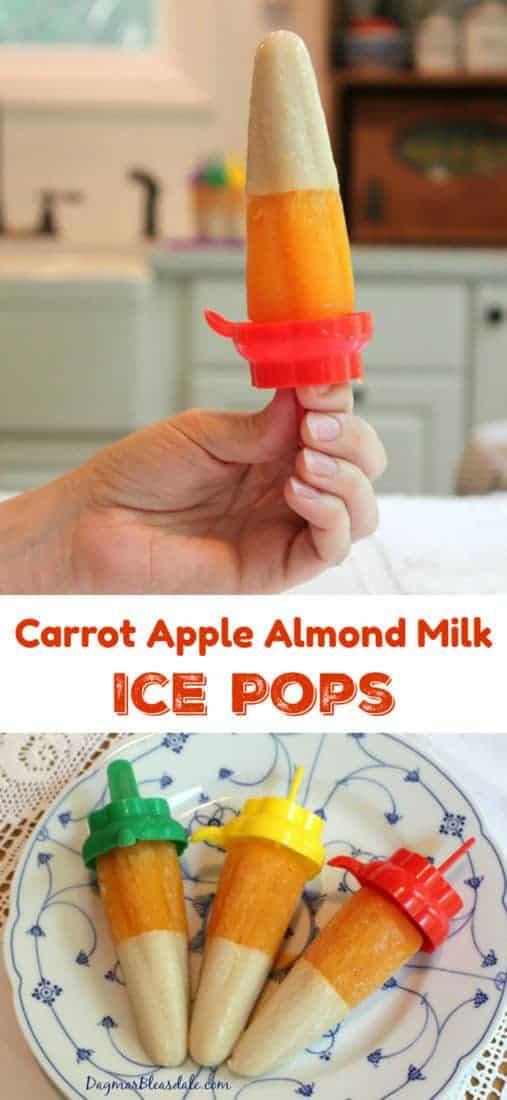 Carrot Apple Almond Milk Ice Pops, DagmarBleasdale.com