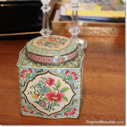vintage find, vintage tea tin