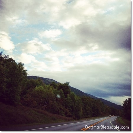 mountains, clouds and sky in Vermont